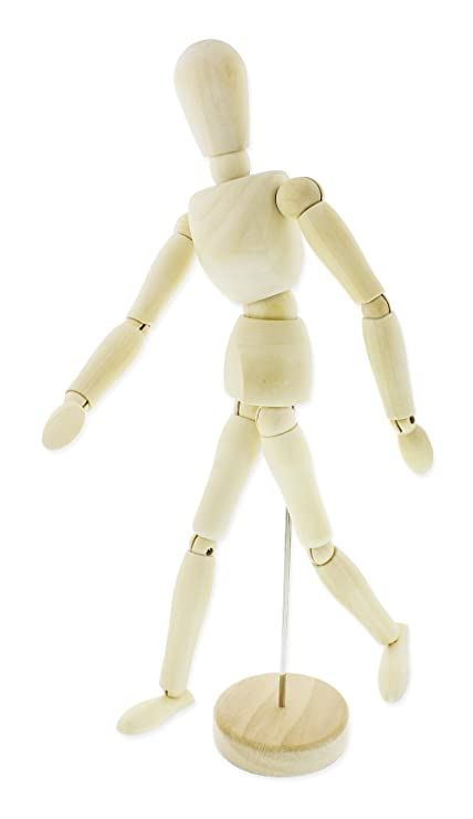 amazon com 13 inches wooden manikin posable drawing sketching