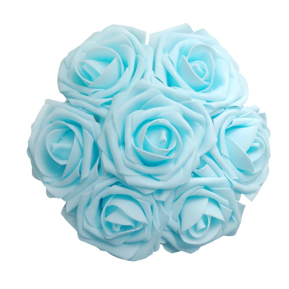 Jing rise 50pcs fake roses real looking artificial flowers for diy jing rise 50pcs fake roses real looking artificial flowers for diy wedding bouquets centerpieces baby shower izmirmasajfo