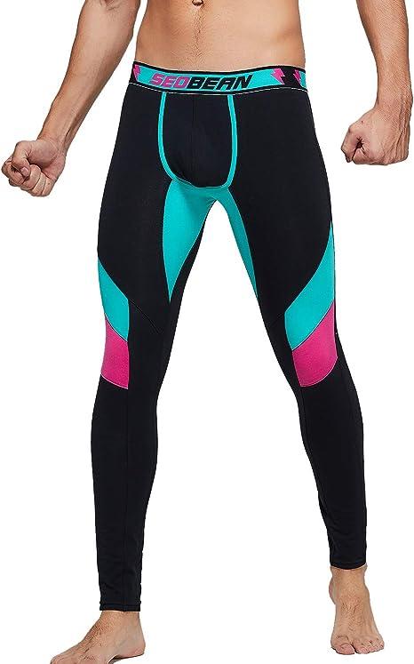 SEOBEAN Mens Low Rise Thermal Underwear Pants Base Layer Long John