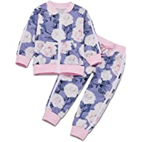 Borlai 1-6 años Chándales para niñas pequeñas Conjunto de Trajes Florales de Moda Chaqueta y Pantalones, 2 Piezas…