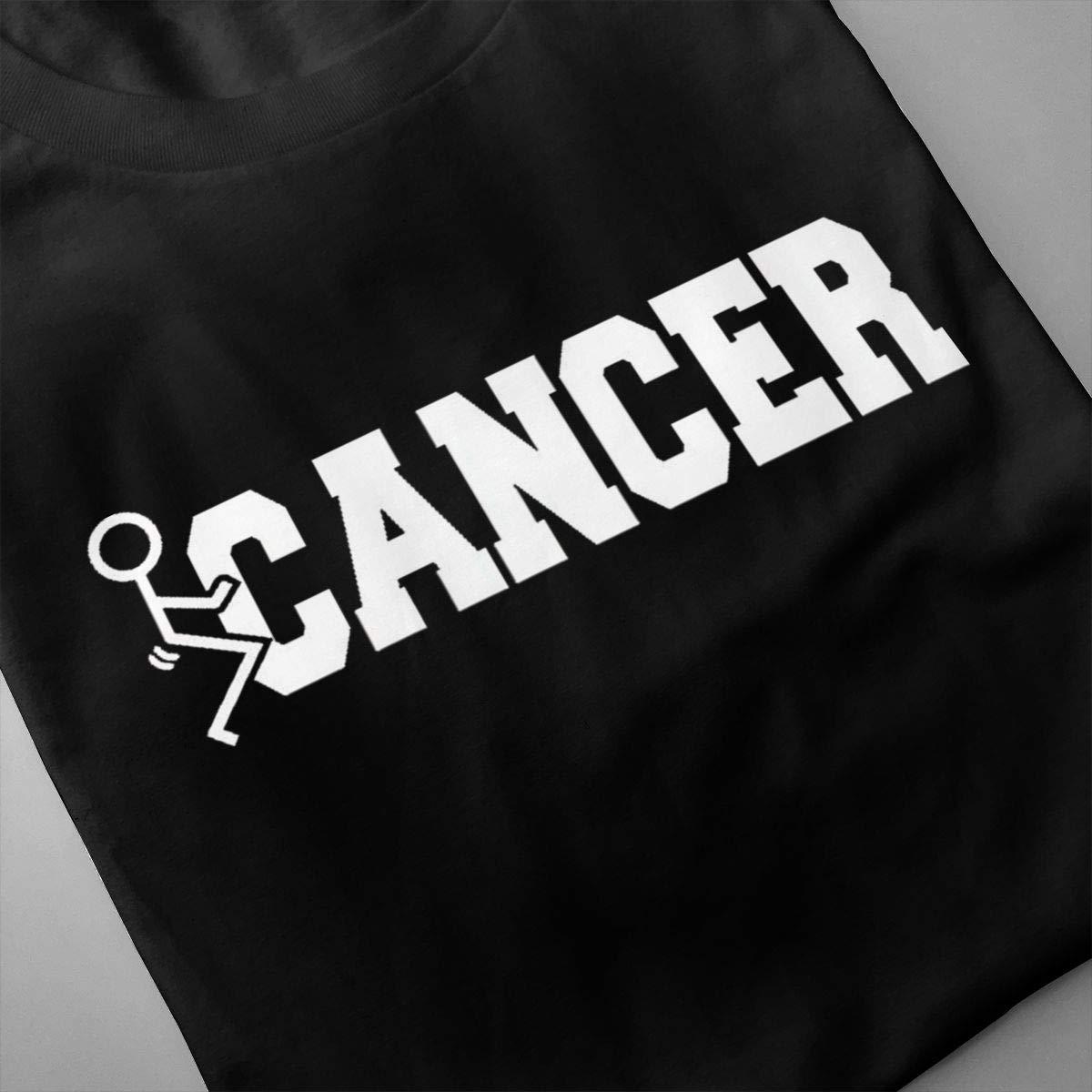 Marsherun Mens Cancer Sucks Comfortable Short Sleeve T Shirt