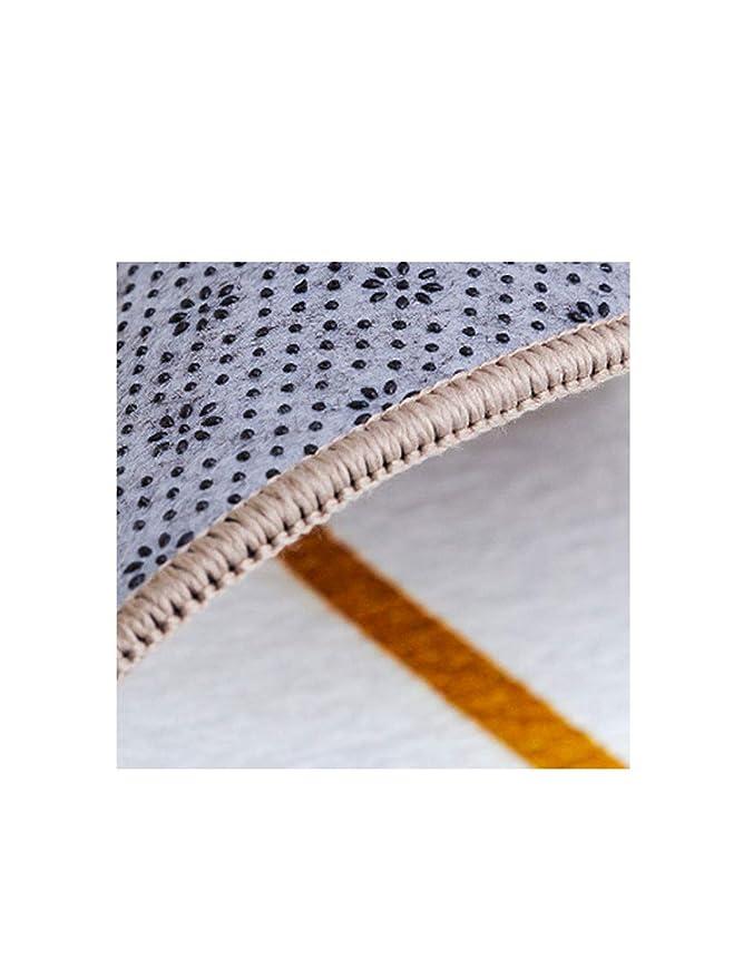Alfombra antideslizante en la sala de estar, material de felpilla, impresión y teñido seguro, seguro para la piel, fácil de limpiar, alfombra de decoración ...