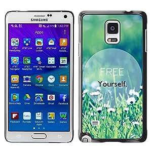 TopCaseStore / la caja del caucho duro de la cubierta de protección de la piel - Text Motivational Summer - Samsung Galaxy Note 4 SM-N910F SM-N910K SM-N910C SM-N910W8 SM-N910U SM-N910