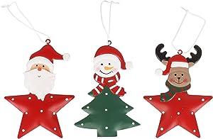 SLDHFE 3PCS Christmas Tree Hanging Ornaments, Xmas Plush Hanging Ornaments Holiday Party Decor, Elk Swedish Handmade Plush Gnome Santa Elf Walls for Home Decor Holiday Decorations
