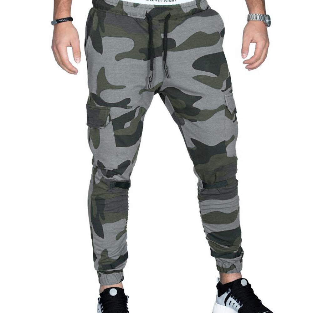 Alalaso Sweatpants for Men, Men's Closed Bottom Sweatpants Pockets Drawstring Camo Joggers Pants for Gym Workout