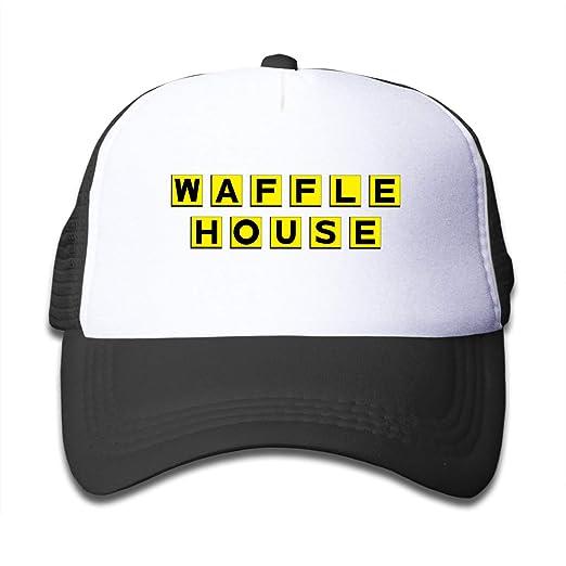 Amazon.com  Adjustable Kids Waffle House Casual Snapback Hats Trucker  Baseball Hat Cap Outdoor Sun Caps for Tollder Boys Girls Black  Clothing 4a8c5019021
