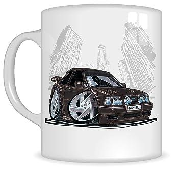 Regalos de Koolart k186-mg dibujos animados de Ford Escort RS Turbo - Caricatura Negro Ford para hombre de regalo de taza (tazas): Amazon.es: Coche y moto