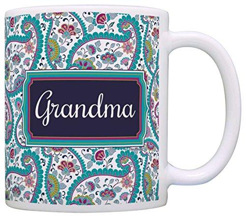 Mothers Grandma Birthday Coffee Paisley