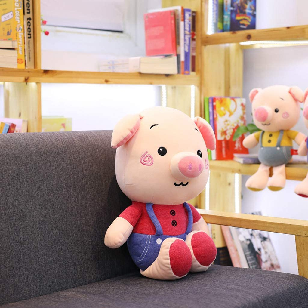 Chinese Zodiac Pig Soft Mascot Plush Pigs Doll Toy For Kids Baby New Year Gift