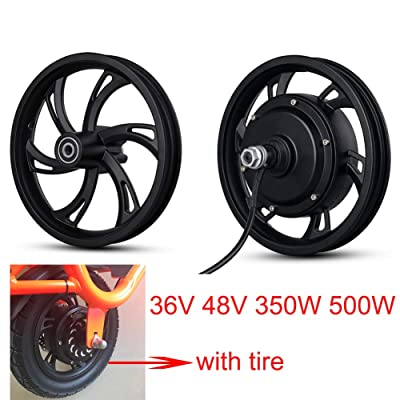 Kunray 36V 48V 350W 500W Electric Bike 12inch DC Brushless Motor Wheel Front Rear Hub Motor High Speed for Electric Scooter Disc Brake (48V 500W) : Sports & Outdoors
