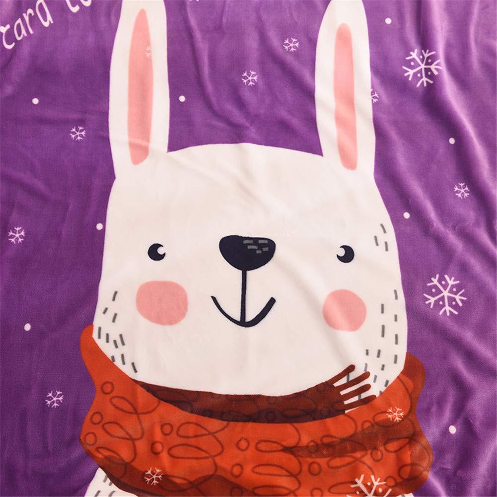 Coperta morbida in pelliccia di agnello X-Labor per bambini in pile coniglio 100 x 140 cm