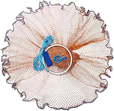 Aluminum Ring Monofilament Thread Throwing Net Saltwater Fishing Cast Net New YU