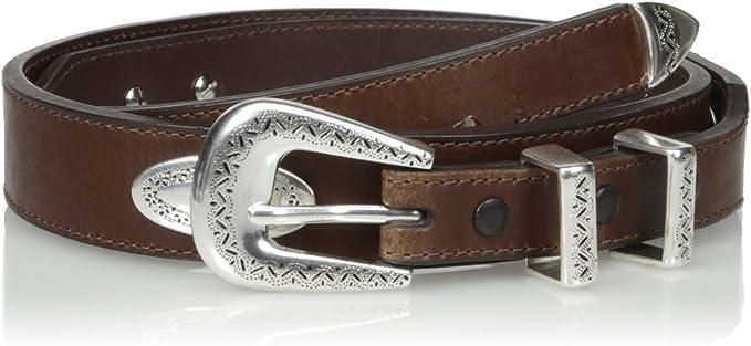 Nocona Men/'s Western Ranger Leather Belt /& Buckle-Brown N2476802