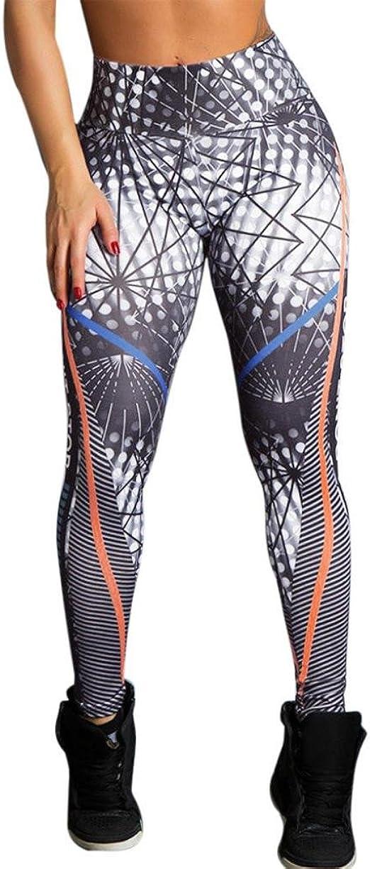 Women High Waist Yoga Leggings Sports Gym Pants Running Jogging Glitter Trousers