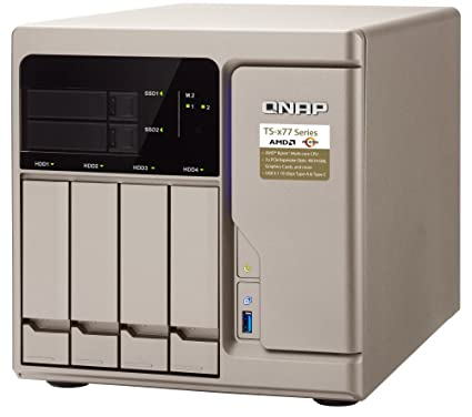QNAP TS-677-1600-8G-US High-Performance 6 Bay (4+2) NAS/iSCSI IP-SAN  AMD  Ryzen 5 1600 6-core 3 2GHz, 8GB RAM, 10G-Ready