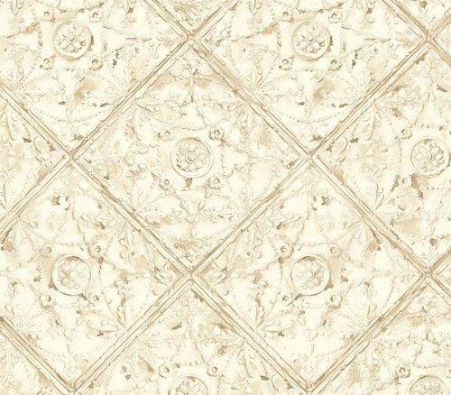 Ceiling Tin Tile White Wallpaper