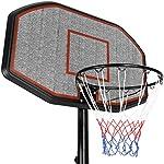 TecTake-Canestro-da-Basket-con-Colonna-impianto-da-Basket-Mobile-Salda-stabilita-Altezza-canestro-200-305-cm