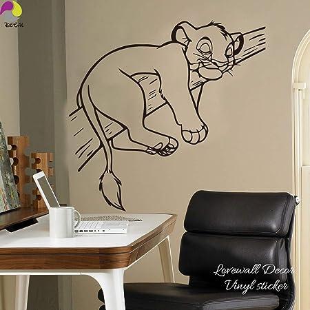 hllhpc Cartoon Simba Lion King Etiqueta de La Pared del Bebé ...