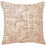 Pehr Designs Berkeley Collection Persimmon Hatch Pillow by Pehr Designs