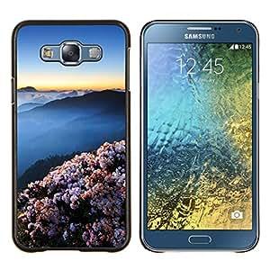 Caucho caso de Shell duro de la cubierta de accesorios de protección BY RAYDREAMMM - Samsung Galaxy E7 E700 - Montañas japonesas hermosas