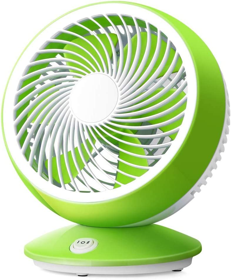 Zxcvlina Portable Personal USB Fan 6 Inch USB Fan Office Desktop Bedroom Bedside Student Dormitory Silent Small Mini Fan Color : Green, Size : One-Size