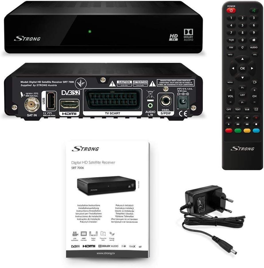 STRONG SRT 7006 Receptores de TV por satélite (HDTV, DVB-S2, Media ...