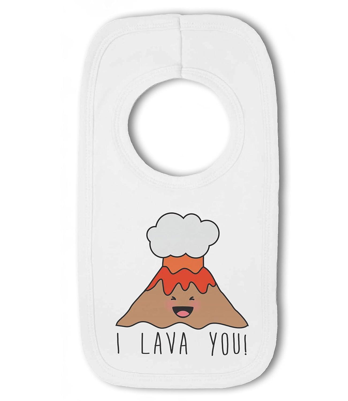 You funny volcano Love I Lava Baby Bandana Bib