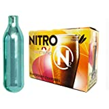 Nitrogen Charger cold beer CRBrewBeer Nitrogen Cartridges charger.8g N2 or N2O Charger Kit Premium Regulated with Gas Disconnect 0-30 PSI for Beer Cold Brew Nitro