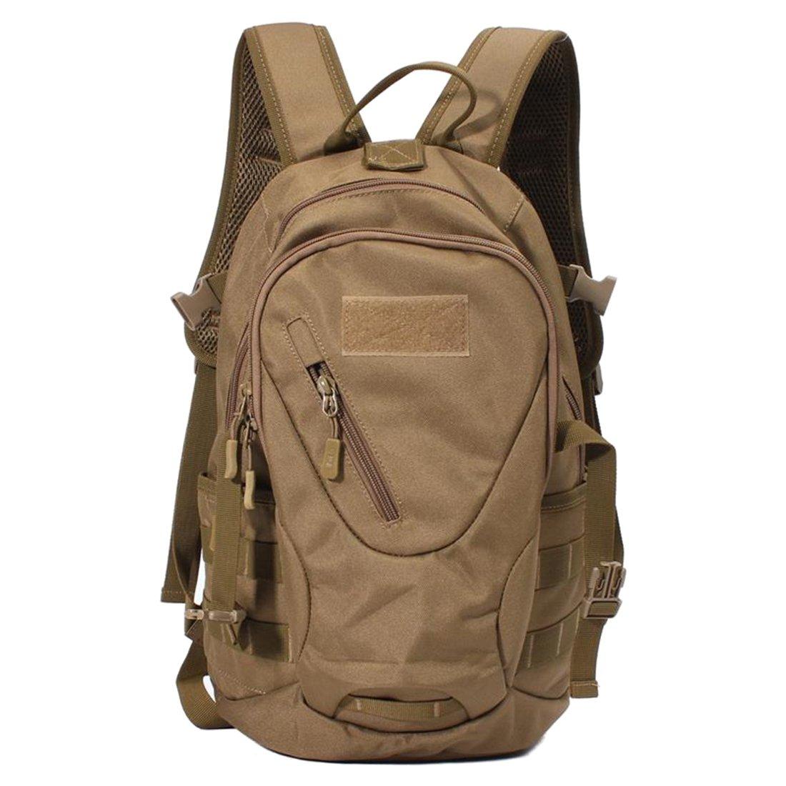 バックパック – SODIAL ( R )ハイキングキャンピングバッグTacticalトレッキングリュックサックバックパックバッグ迷彩カラー: ACU Digtal  ブラウン B01N8SLBQN