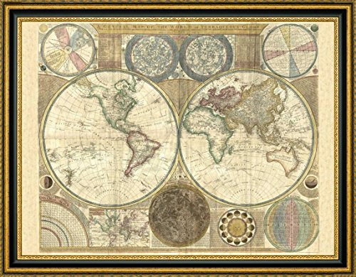 (Double hemisphere map of the world 1794 by Samuel Dunn - 20