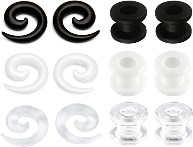 Acrylic Glow in the Dark Trapped Zombie Ear Plugs Tunnels Stretchers Expanders