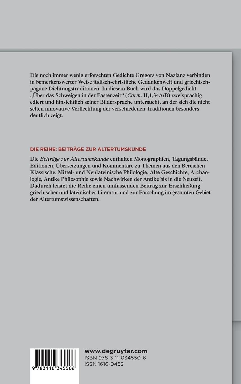 Buy Schweigen In Versen Text Bersetzung Und Studien Zu Den
