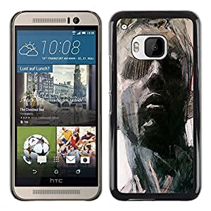 Exotic-Star ( Portrait Man Art Painting Think ) Fundas Cover Cubre Hard Case Cover para HTC One M9