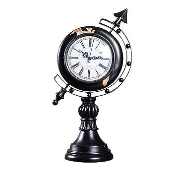 SESO UK Reloj de Mesa de Resina Relojes Decorativos de Escritorio silencioso sin tictac Creativo para Sala de Estar (Color : Negro): Amazon.es: Hogar