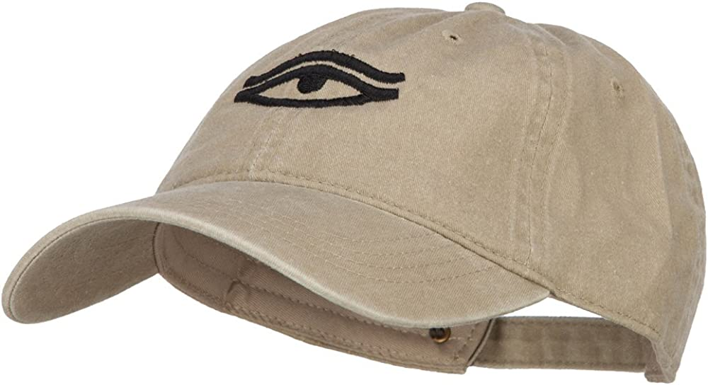 e4Hats.com Eye That Sees All Embroidered Washed Dyed Cotton Cap