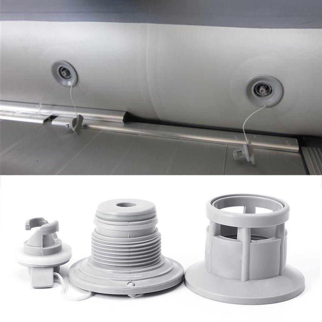 6/Orificios Adaptador de v/álvula de Aire para Barco balsa Bote Kayak Canoa Manyo Tapones v/álvula de Aire para hinchables