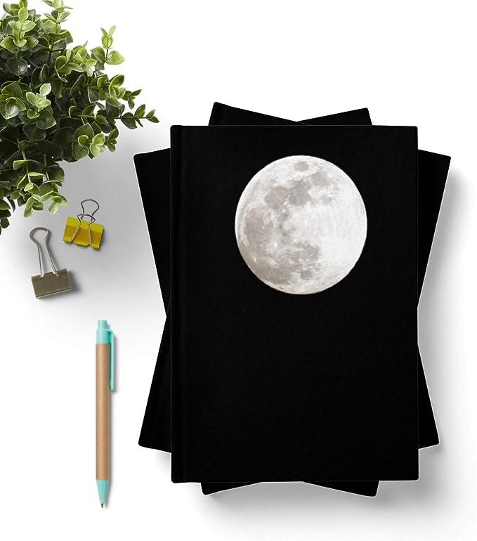 42thinx - Cuaderno de notas con diseño de luna completa en negro ...