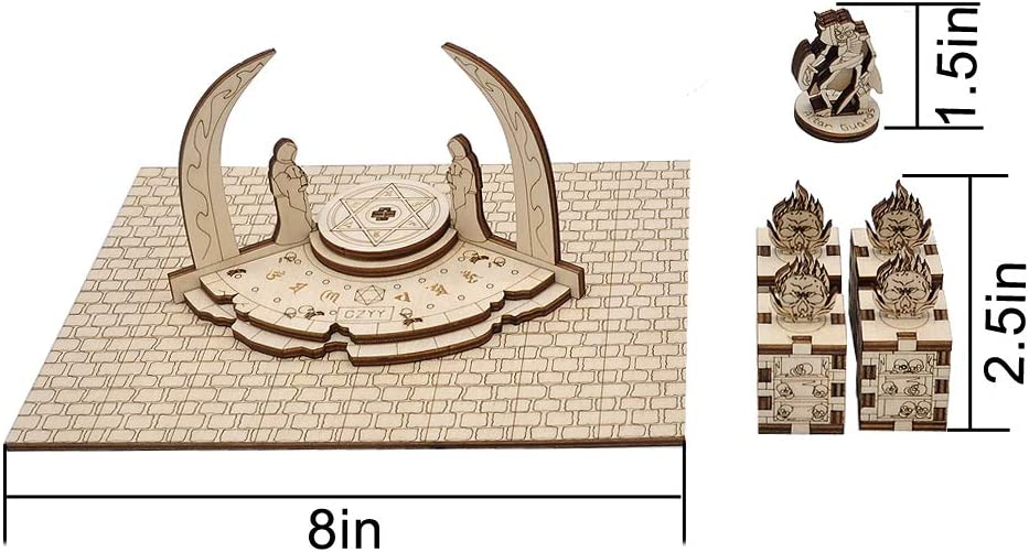 Warhammer Other Tabletop RPG D/&D Demonic Altar with 4 Skull Pillars /& 1 Guard Miniature Wood Laser Cut 28mm Scale Modular Wargaming Terrain for Pathfinder Dungeons /& Dragons