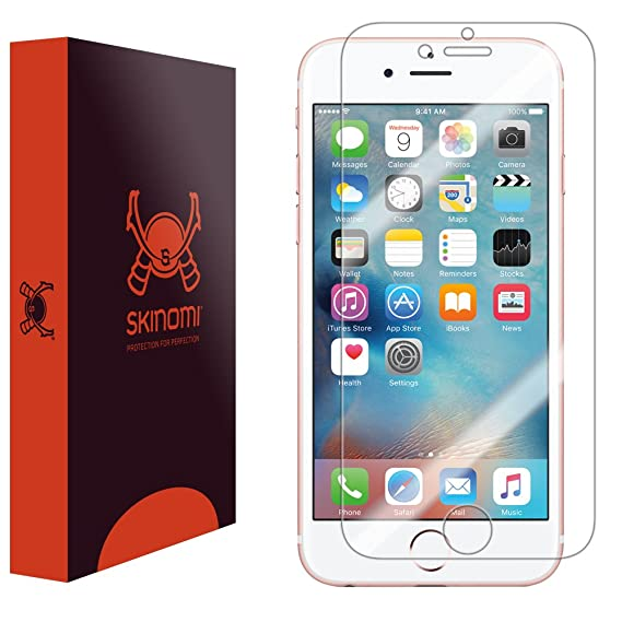 the best attitude d96fc 2af33 Skinomi TechSkinScreen Protector Compatible with Apple iPhone 6S (iPhone 6  4.7