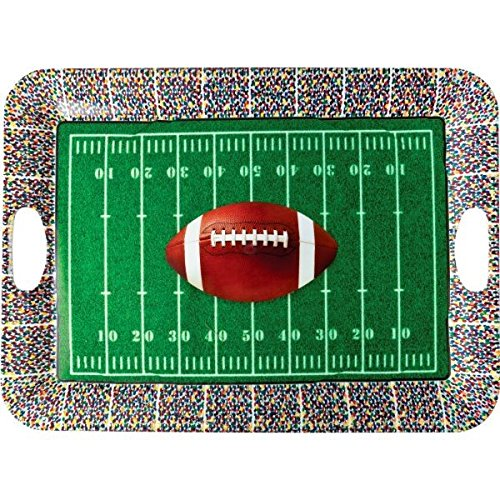 Football Frenzy Birthday Party Large Plastic Serving Tray  Serve ware, 14