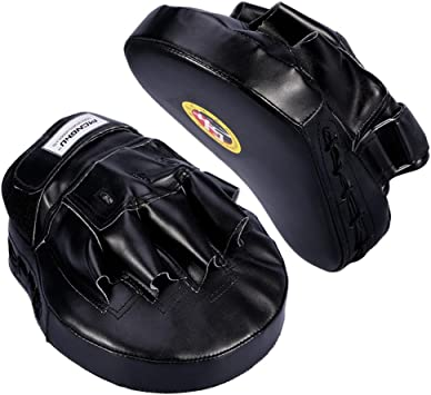 Adjustable PU Boxing Gloves Sparring Grappling Martial Arts Training Mitts