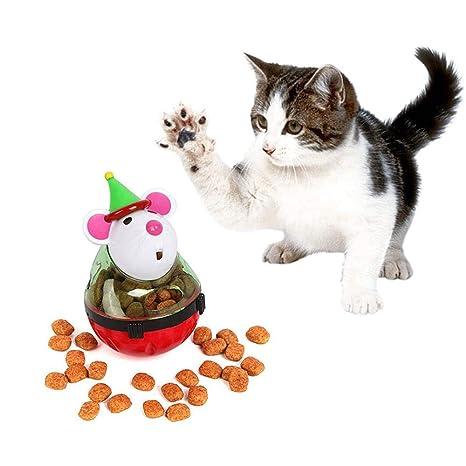 Pawaca - Dispensador de Pelota para Gatos, Juguete de alimentación ...