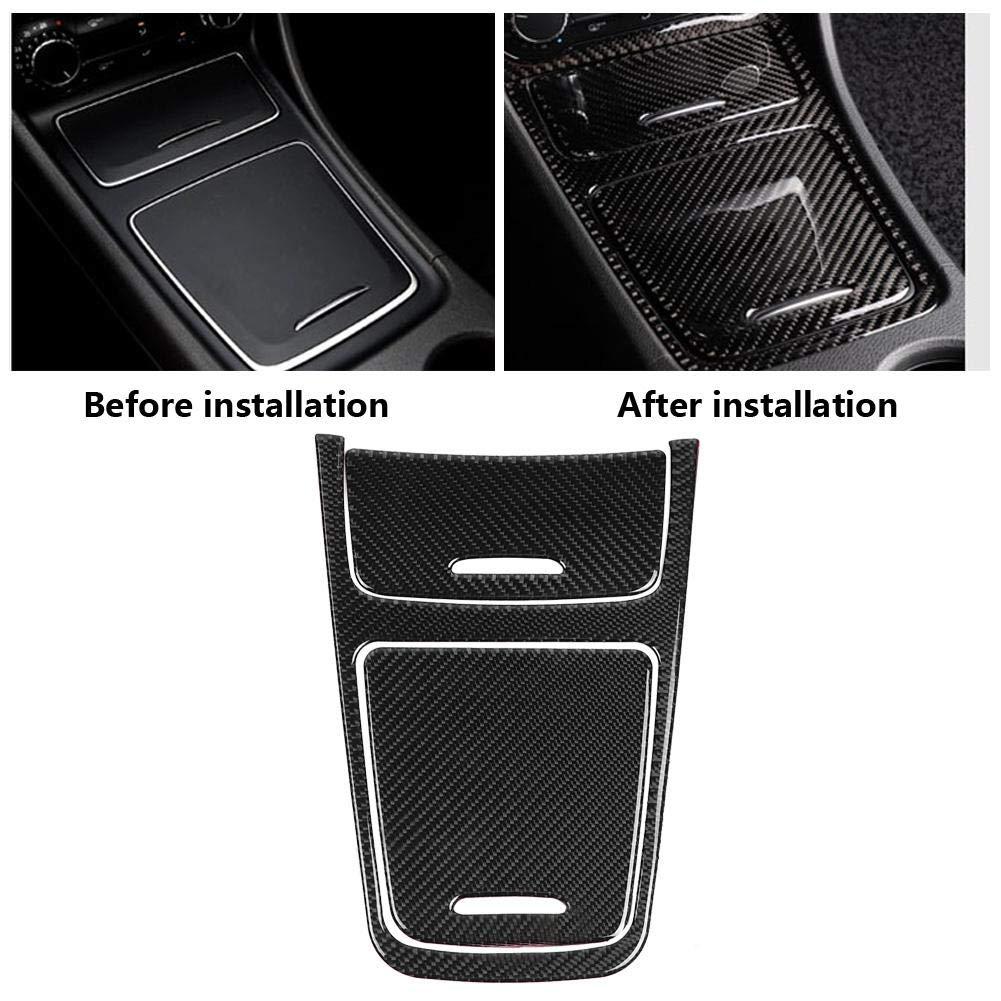 El panel central del ajuste de la cubierta el control central del interior del coche molduras de fibra de carbono cubierta de panel de ajuste para una clase CLA GLA 2013-2019