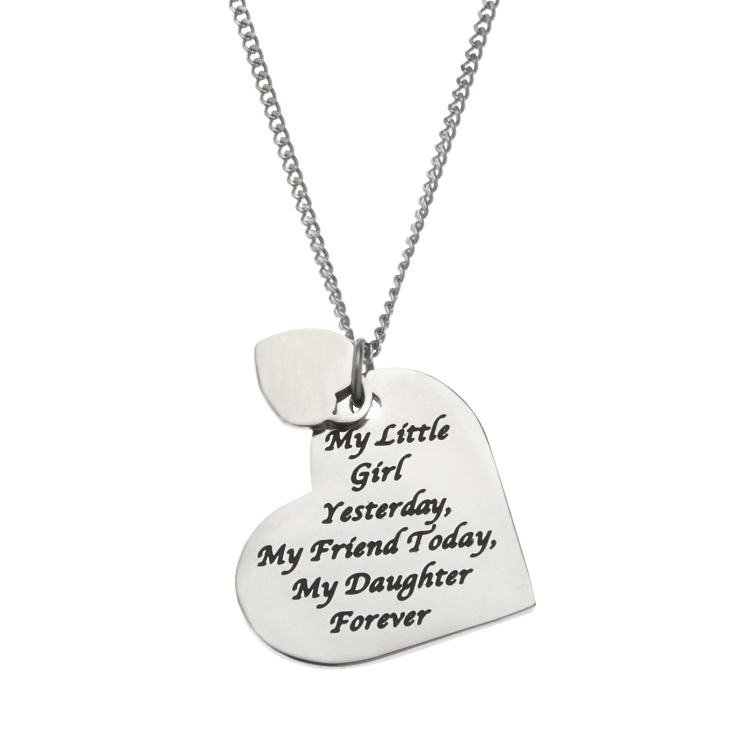 """""""My Little Girl Yesterday, My Friend Today, My Daughter Forever"""" Daughter's Necklace, Daughter Gifts"""