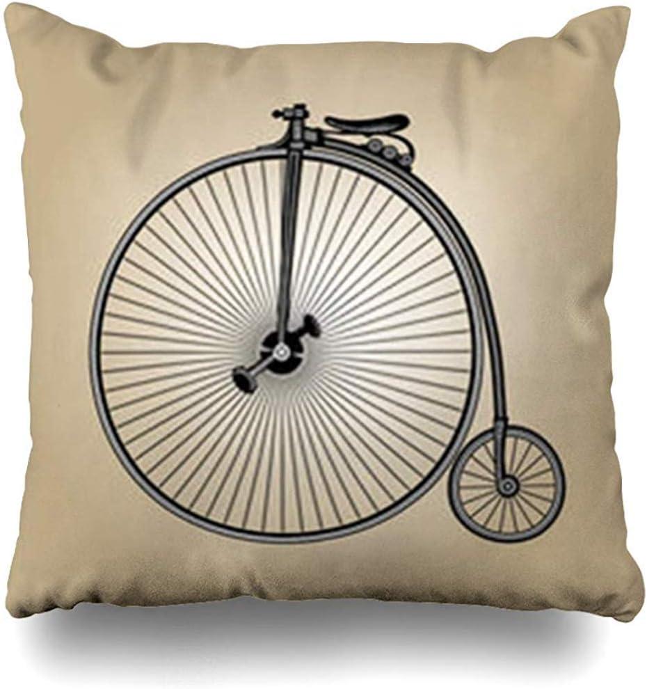 Fundas de cojín Retrostyle Steampunk Bicicleta antigua de época ...
