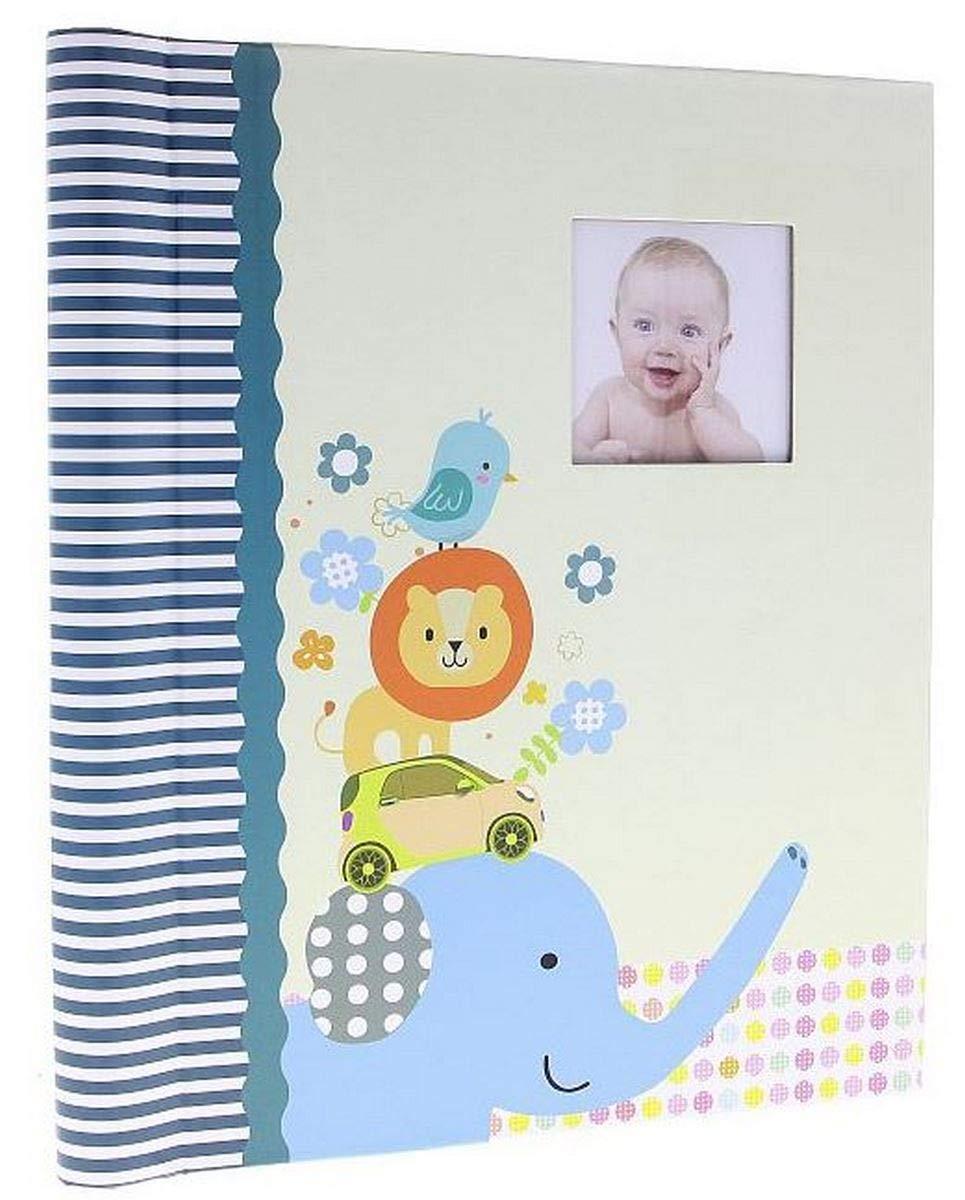 Album photo Bébé Adhésif Animals Bleu 20 pages blanches, 40 photos 10x15 cm ou 40 photos 13x18 ou 20 photos 15x21 cm, Feuillet adhésifs, Dimensions : 22.5x28 cm, existe aussi en rose Feuillet adhésifs LCD