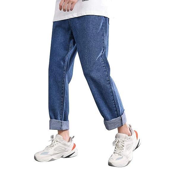 Hombres Pantalones Largo Verano Moda Cómodo Llano Derecho Pantalón ...
