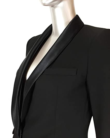 0e30571c Zara Women's Contrast Shawl Collar Blazer 2124/783: Amazon.co.uk: Clothing