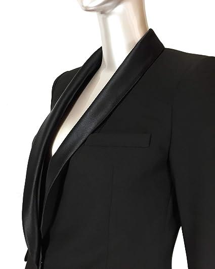 b57f9ffc Zara Women's Contrast Shawl Collar Blazer 2124/783: Amazon.co.uk: Clothing