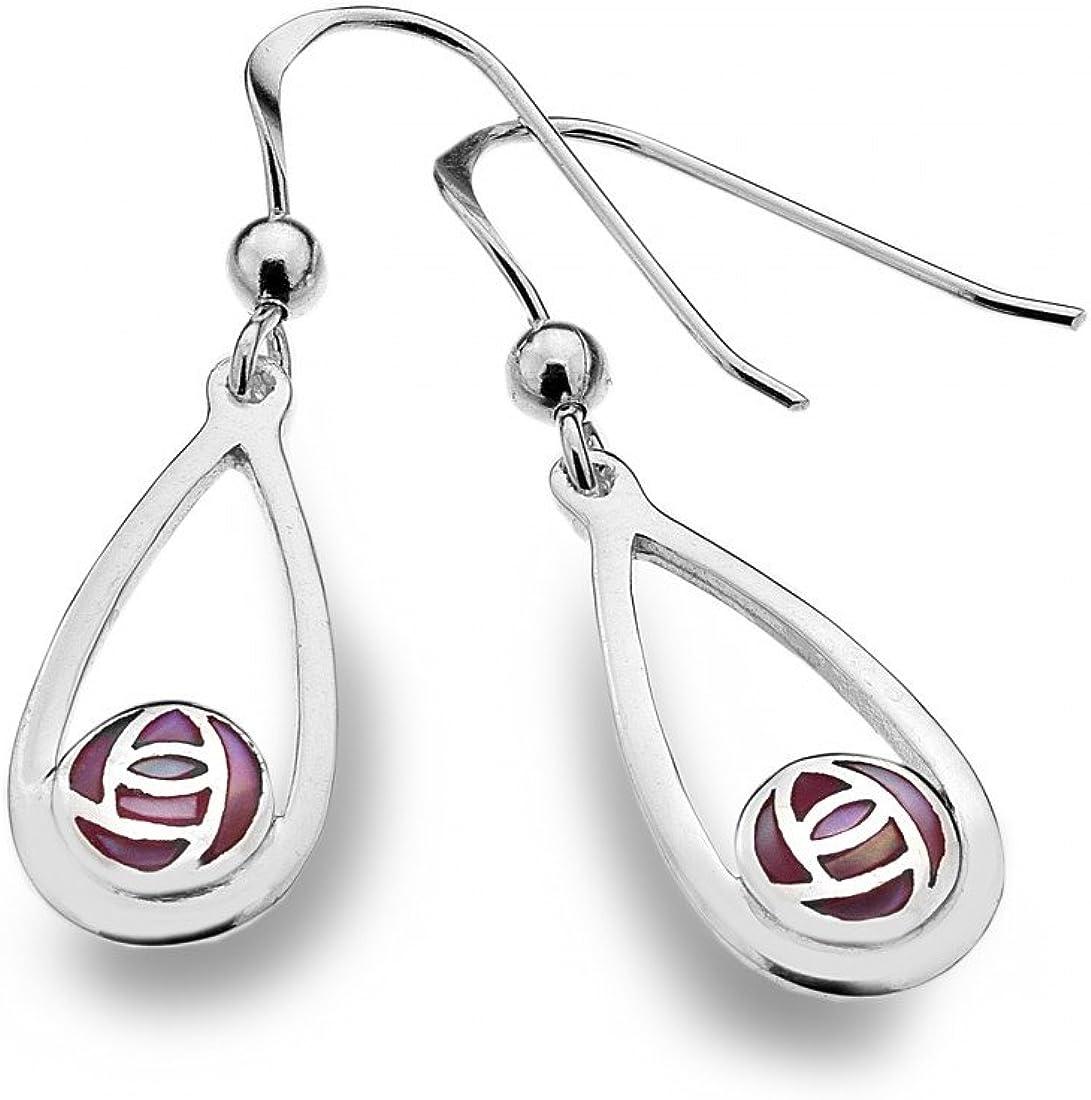 Charles Rennie Mackintosh Tiny Silver Glasgow Rose Stud Earrings Jewellery